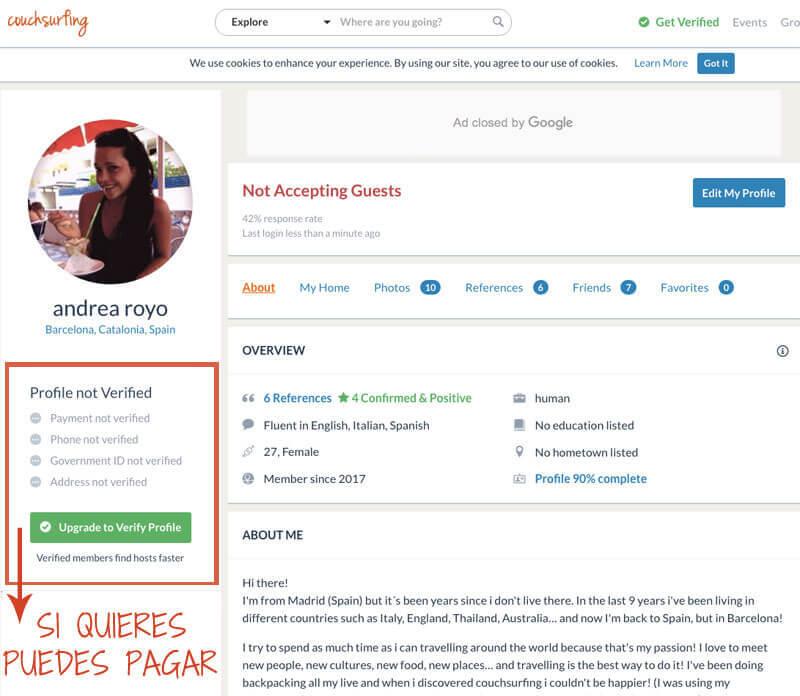 couchsurfing alojamiento gratis
