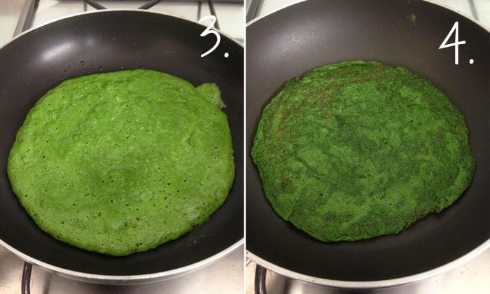 wraps de espinaca sin harina