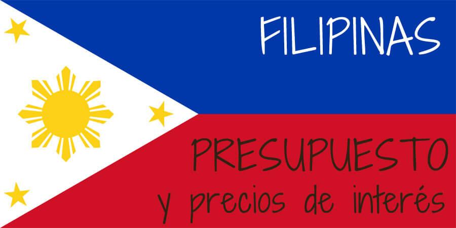 precios presupuesto Filipinas