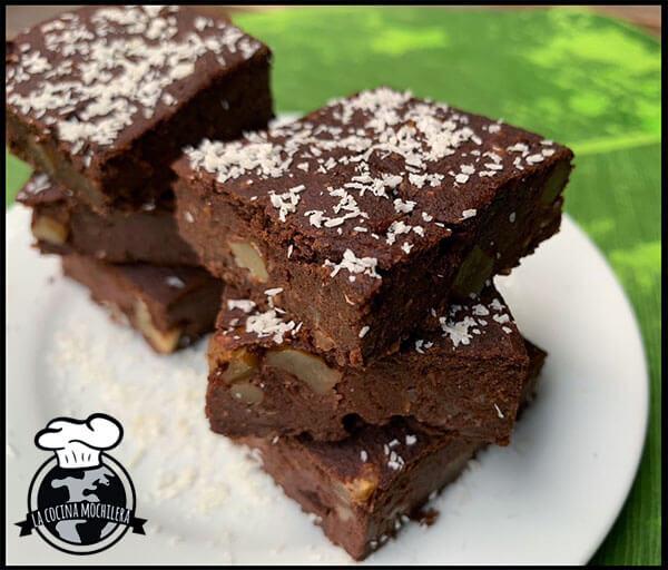 brownie saludable con nueces