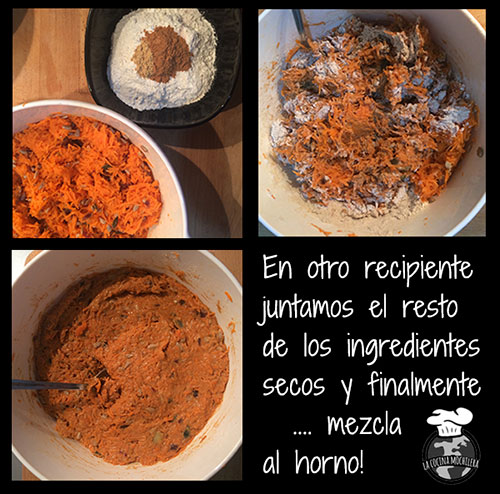 muffins de zanahoria sin
