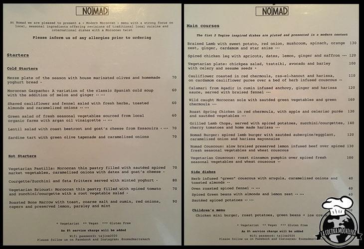 menu nomad