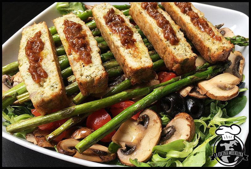 presentación plato ensalada templada