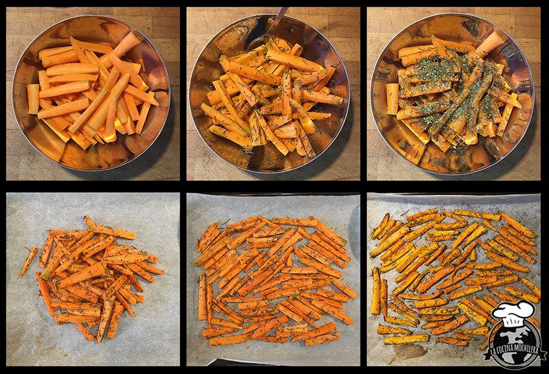 preparacion chips zanahoria
