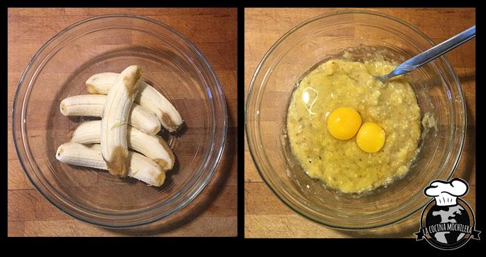 platano y huevos